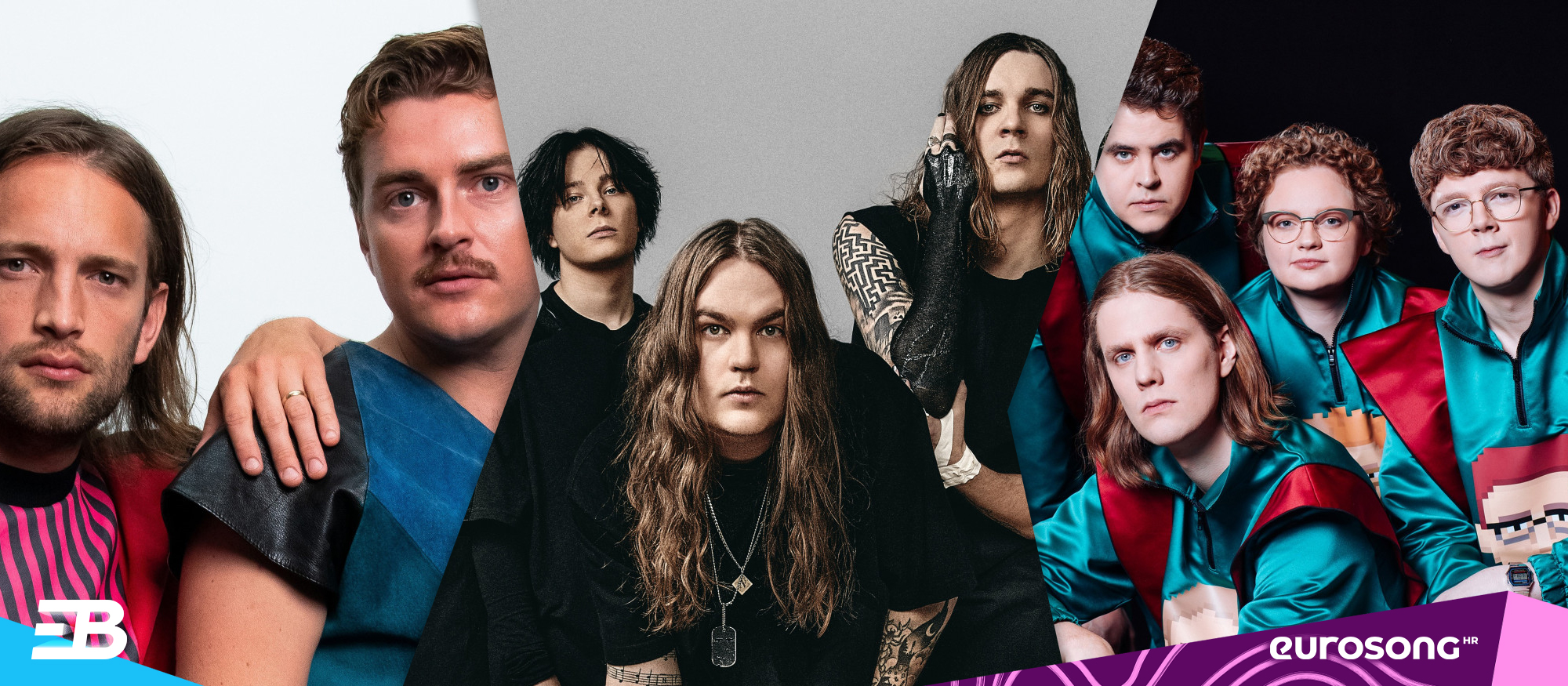 Na vizualu se nalaze predstavnici Danske, Finske i Islanda na Eurosongu 2021