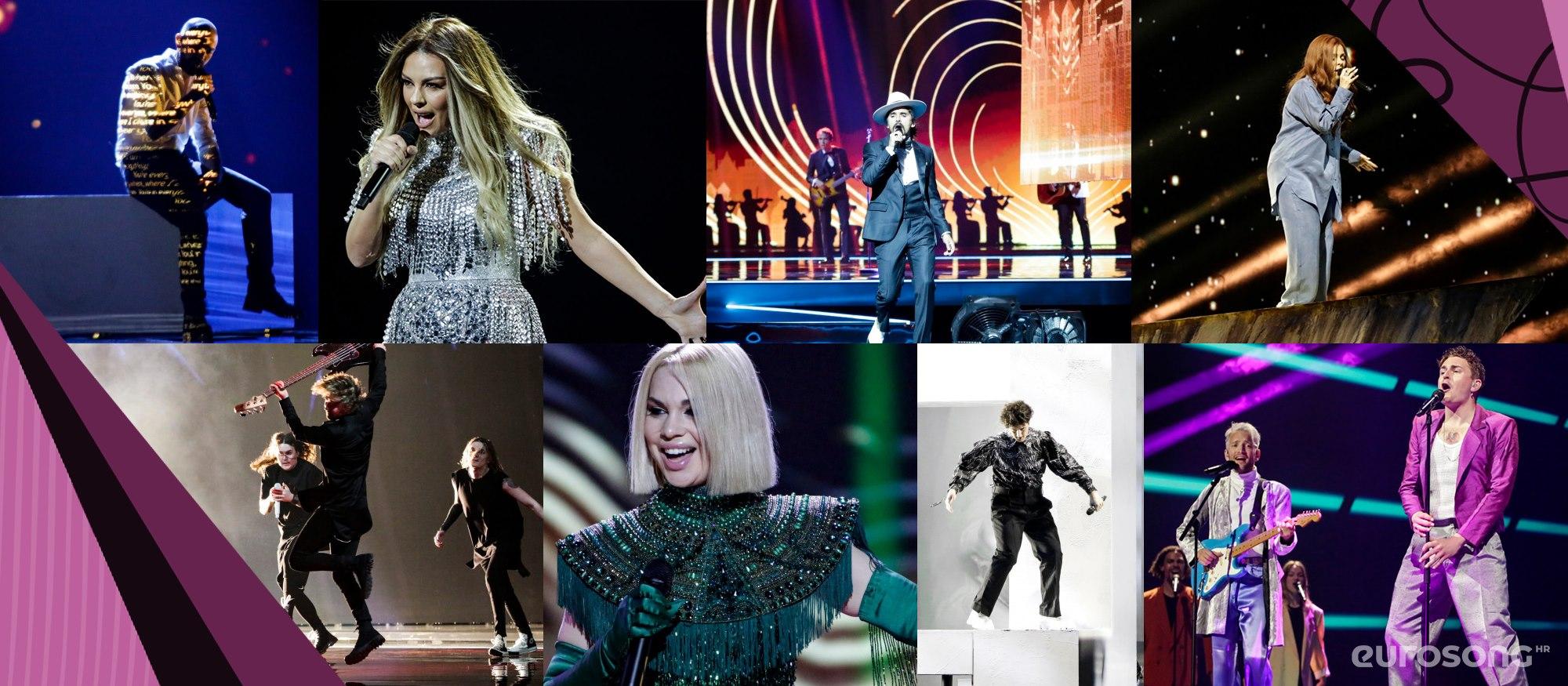 Eurosong 2021. - probe: Gruzija, Albanija, Bugarska, Portugal, Finska, Latvija, Švicarska, Danska