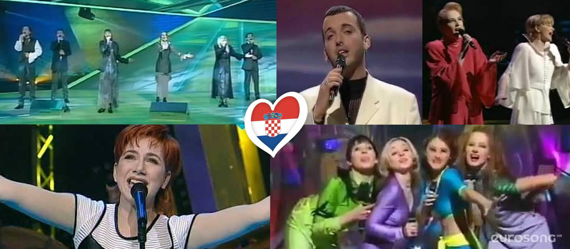 Hrvatska na Eurosongu - izvođači od 1993. do 1997.