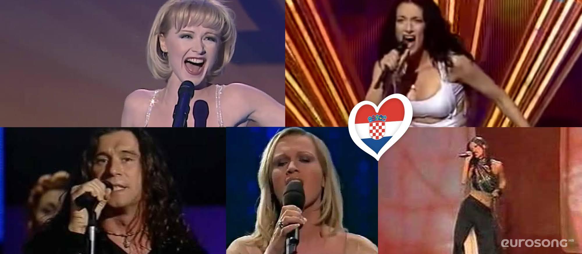 Hrvatska na Eurosongu - izvođači od 1998. do 2002.