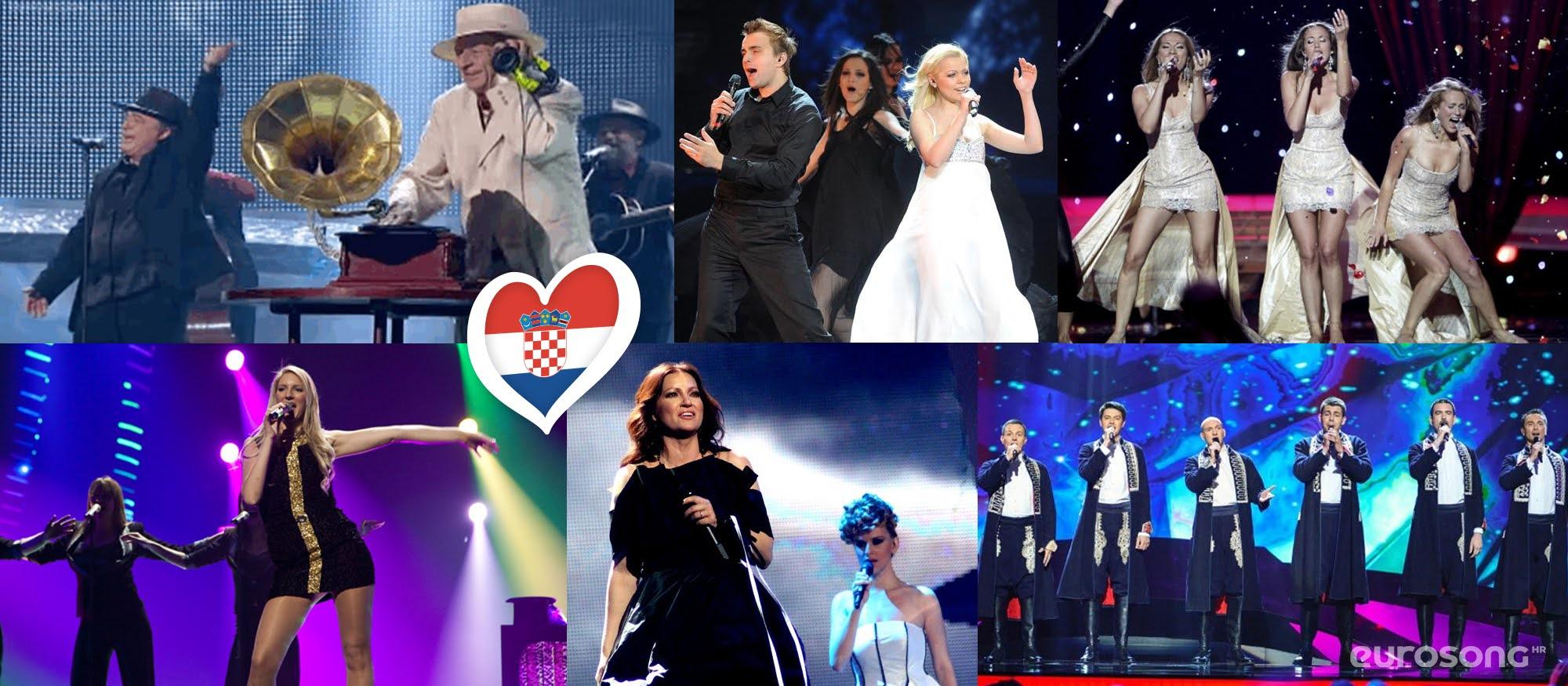Hrvatska na Eurosongu - izvođači od 2008. do 2013.