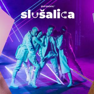 Eurosong Slušalica vizual za strani i domaći hit travnja/aprila 2021, Luca Hanni, Sergej Lazarev i Marija Spasovska