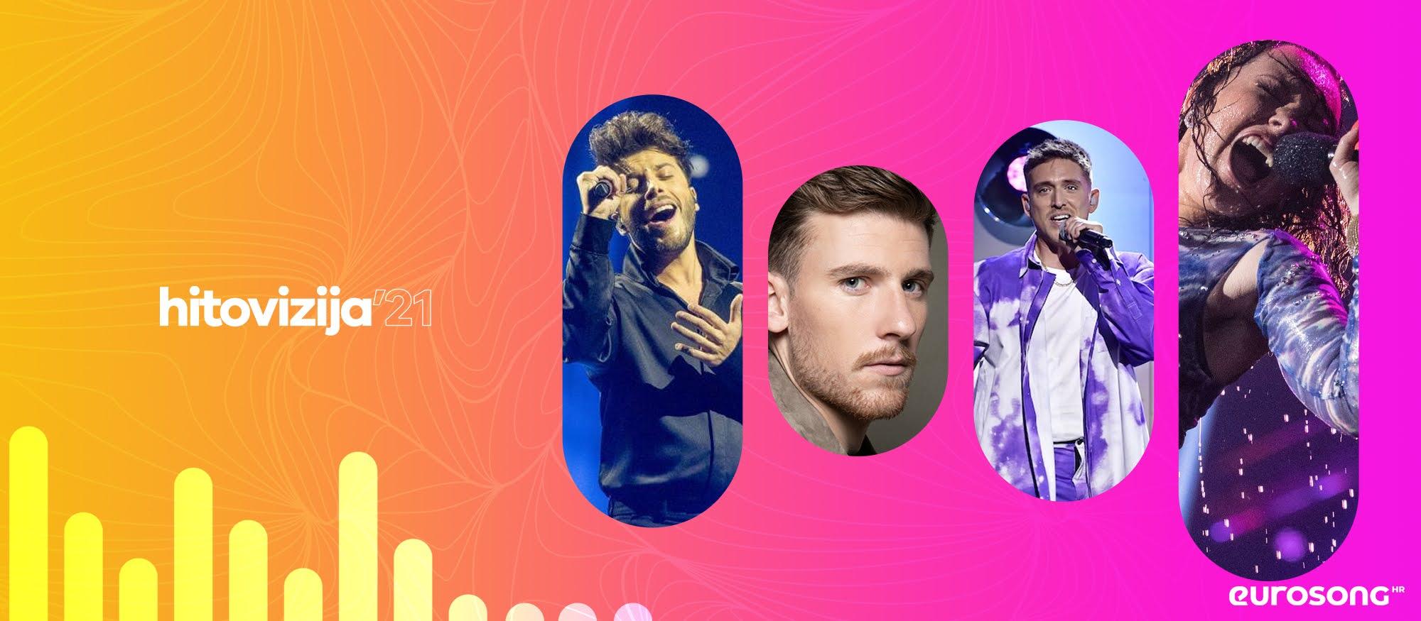 Logo projekta Hitovizija, najveći hitovi nacionalnih izbora 2021: Blas Canto, Casanova, Danny Saucedo, Raylee