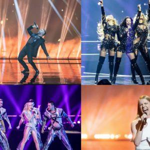 S druge strane ekrana kolaž Albina Hurricane Vasil Ana Soklič, eurovision 2021